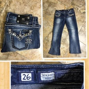 Miss me JE5439B5N boot jeans size 26